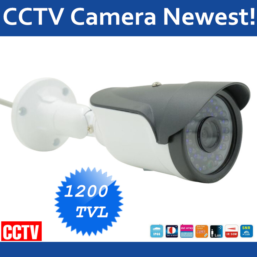 Newest Analog High Definition Surveillance 1200TVL Bullet CCTV Camera IR Leds Security Indoor/Outdoor IR 50m IR-Cut Chamber
