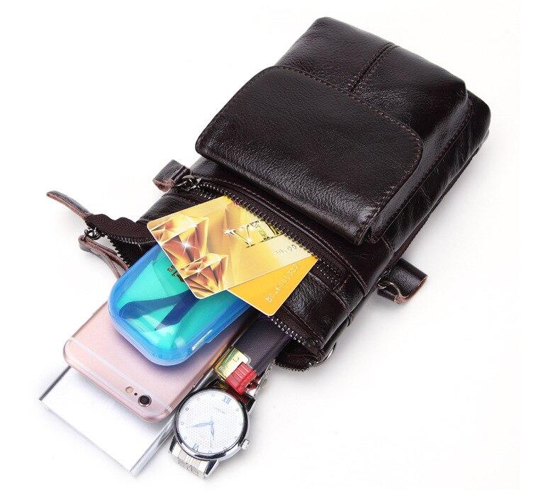 FSSOBOTLUN, для Blackview X/BV7000 Pro/A20/BV5800/S6, чехол, Мужская поясная сумка, чехол из натуральной кожи с плечевым ремнем - 6