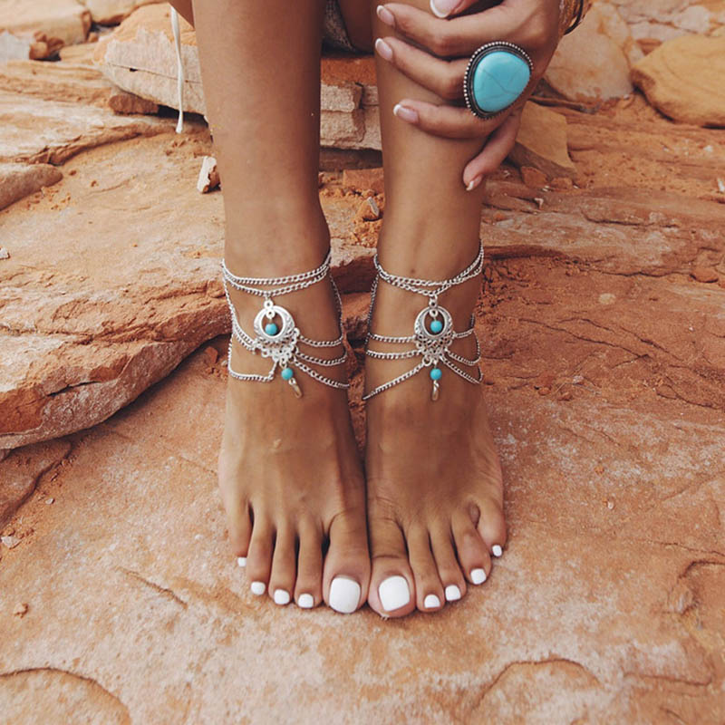 Aliexpress Buy 1PC Summer Anklets Bohemian Ankle Bracelet Beach Wedding Foot Bead Jewelry Barefoot Sandals Chain For Women From Reliable