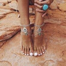 1PC Summer Anklets Bohemian Ankle Bracelet Beach Wedding Foot Bead Bracelet Jewelry Barefoot Sandals Chain for Women