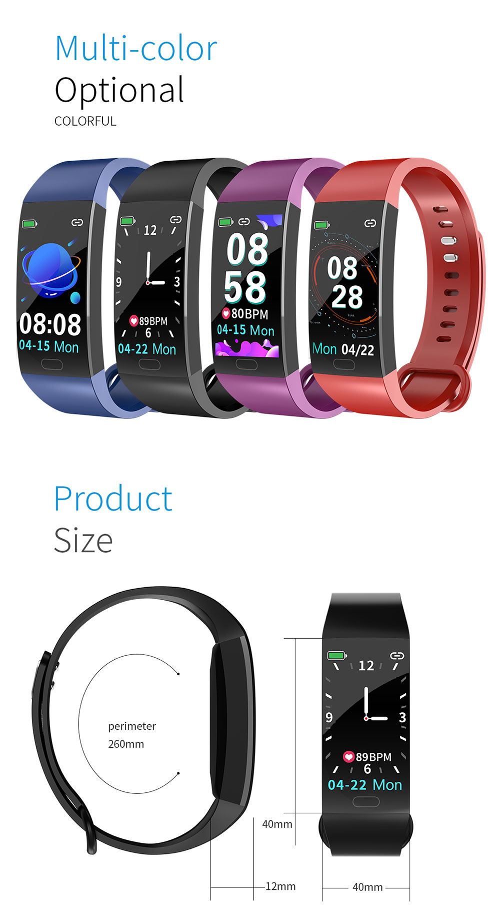 HTB1SCMQbbr1gK0jSZFDq6z9yVXaI Smart Bracelet Blood Pressure Measurement Fitness Tracker Watch Waterproof Heart Rate Monitor Smart Wristband Women Men Watch