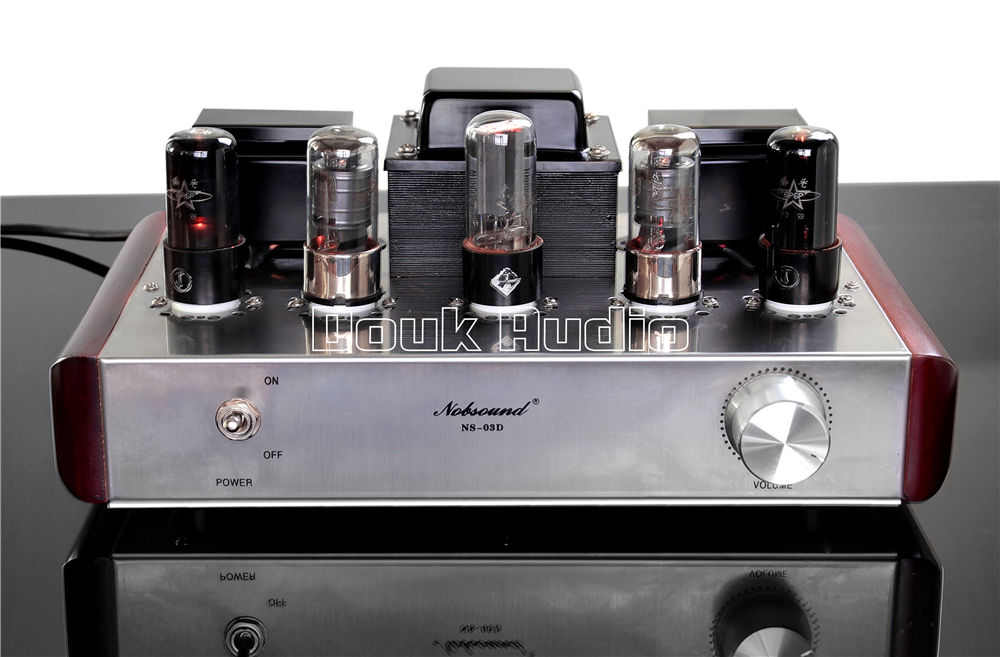2018 Lastest Nobsound 6P6P+6J8P Valve Tube Amplifier Hifi Class A Single-ended Desktop Amp iwistao single ended tube amplifier class a 2x4 8w 6j1 drive 6p6p retro style bamboo wood casing scaffolding soldering