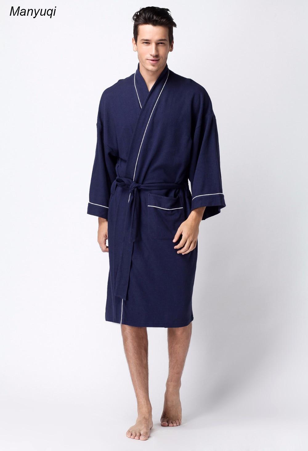 sale autumn shoes forefront of the times Women's and Man's bathrobe Cotton Waffle kimono style ...
