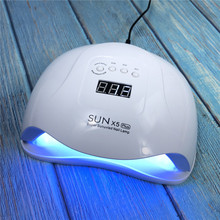 SUNX5PLUS 80W UV LED מנורת לציפורניים מייבש שמש אור מנורת נייל מניקור חכם LCD תצוגה עבור כל UV LED ג ל פולני נייל כלי