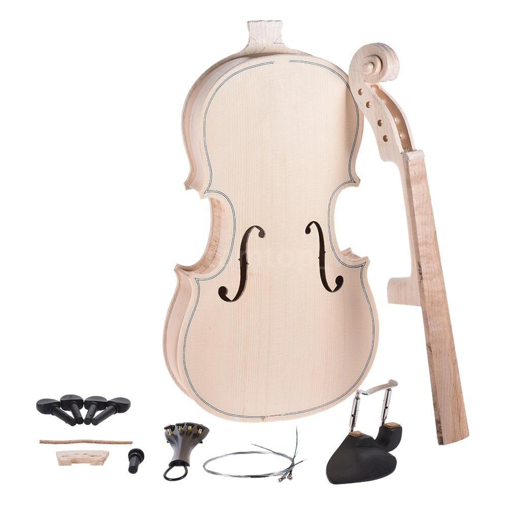 NAOMI VIOLIN 4 4 3 4 1 2 1 4 1 8 VIOLIN Unfinished Raw Violin
