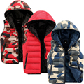Camouflage Vest 2016 Men's Hooded Fashion New Style Outwearing Vest Casual Male Winter Warm Vest