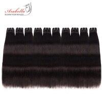 Оптовая продажа 10 пучков бразильские прямые волосы Реми наращивание натуральный цвет 100% человеческих волос 10 шт набор для оптовой продажи