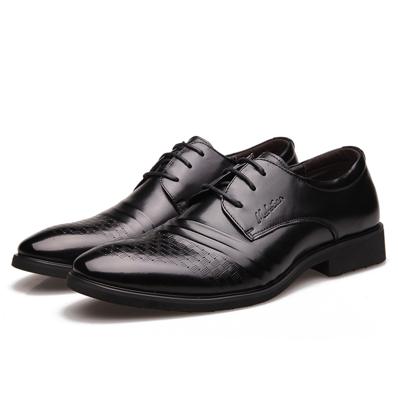 Vraie Oxford Sculpté Cuir D'affaires Italien Chaussures Classique Robe Peau En Vache Hommes Mariage Black Formelle Muhuisen De Noir n6qUSIwx