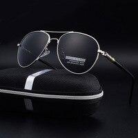 Polarized Mens Black Aviator Sunglasses Women Brand Driving Accessories UV400 Glasses Female Men Driver Oculos De