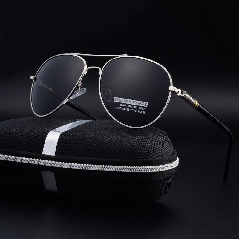 Polarisées Hommes Noir Aviator lunettes de Soleil Femmes Marque Conduite  Accessoires UV400 Lunettes Femelle Hommes Pilote oculos de sol feminino 088b06b432bd