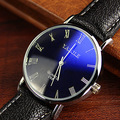 YAZOLE Brand Mens PU Leather Strap Quartz Watch Fashion Simple Slim Roman Number Wristwatches 268 2016 New Free Shipping