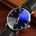 YAZOLE Marca Mens PU LEATHER Strap Quartz Watch Moda Simples Magro Número Romano Relógios De Pulso 268 2016 Novo Frete Grátis