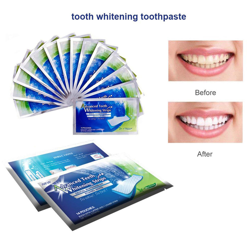 Drop Shipping 2019 1pcs Stain Removal Advanced Teeth Whitening Strips Professional For Oral Care For Beauty Oral Hygiene