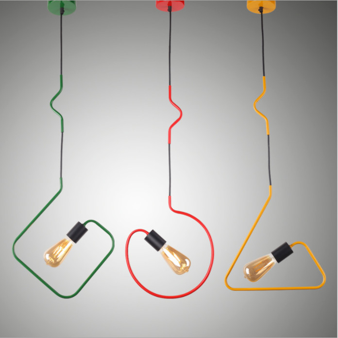 New style vintage lamp pendant light loft lights home design pendant lamp holder hanging e27 Edison bulb industrial lamps