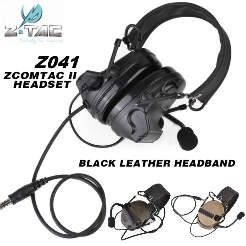 Z Tactical Z041 Softair Military Noise Cancelling Comtac II Headset Airsoft Paintball Hunting Headphone Ear Protector