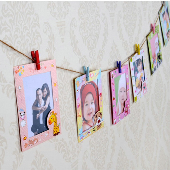 Wall Hanging Cute Animal Paper Photo Frame 6 Inch DIY For Pictures ...