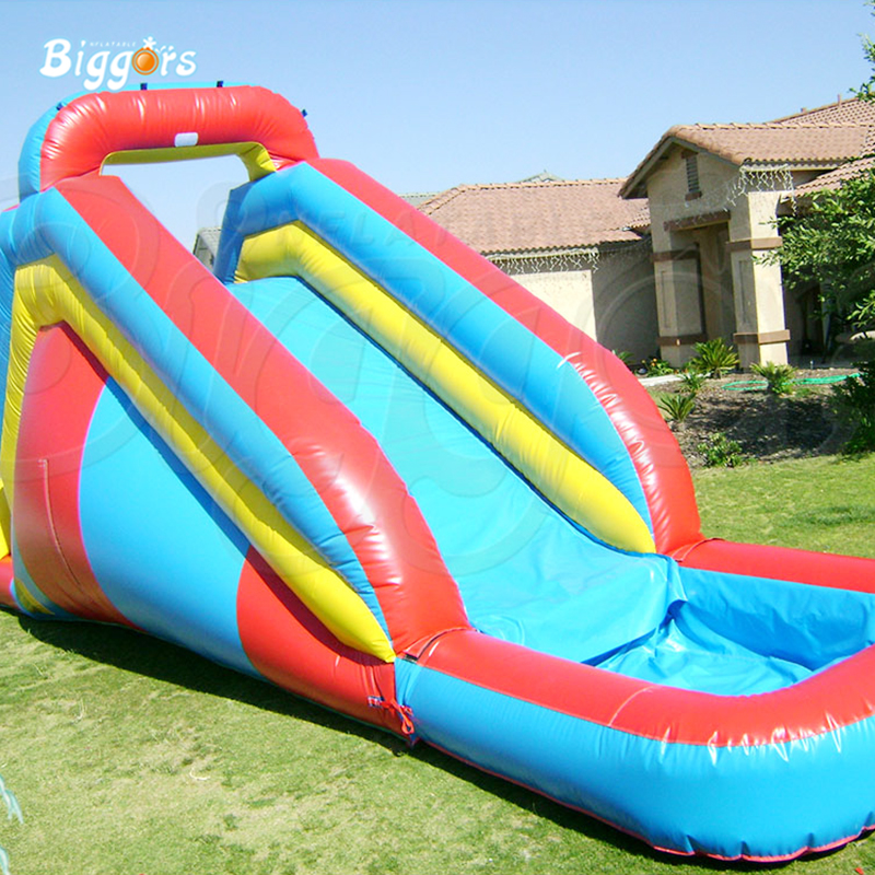 commercial backyard inflatable bounce jumping water slides with pool factory price inflatable backyard water slide pool water park slides pool slide with blower for sale