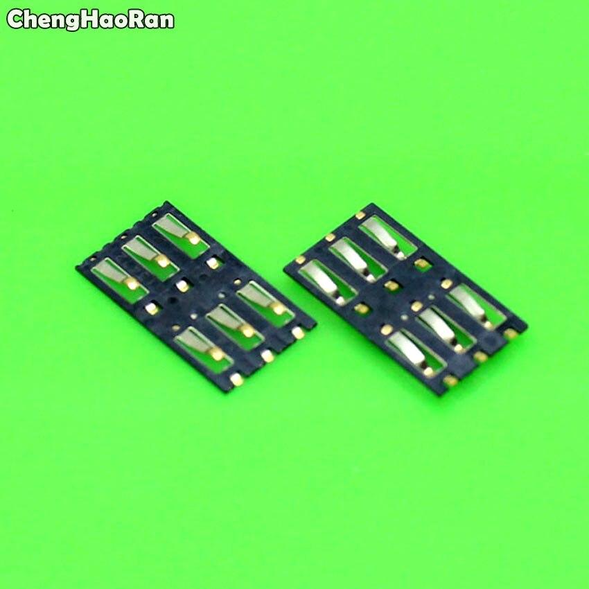 ChengHaoRan 2pcs New Sim card Socket reader holder tray slot adapter connector for Xiaomi 3 M3 Mi3 Mi 3