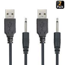 USB для постоянного тока 2,5 мм зарядный кабель, вибратор зарядное устройство Шнур для перезаряжаемой палочки массажер(черный