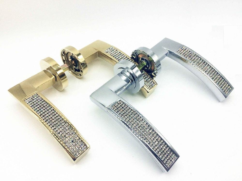 UNILOCKS New Interior Design K9 Clear Crystal Diamond Door Hardware Levers and Handles