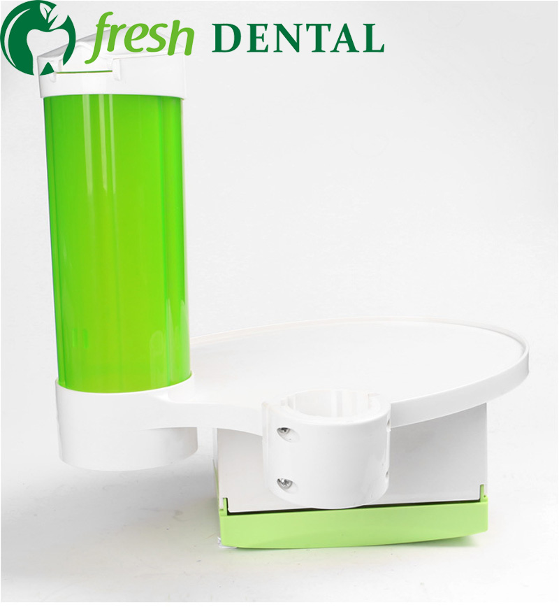 ФОТО Dental Chair Uint three in one dental cup stents+lamp-posts tray+paper tissue box use for 45mm Post dental equipment SL-1313