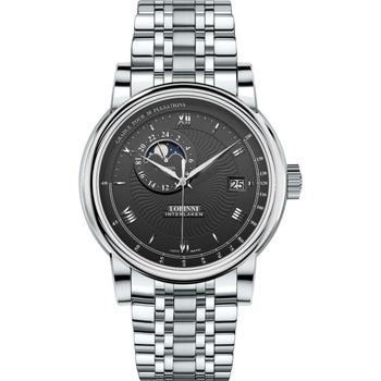 LOBINNI Men Fashion Business 50M Waterproof Dress Automatic Mechanical Wrist Watch With Date,Night Day Window,24 Hour Format