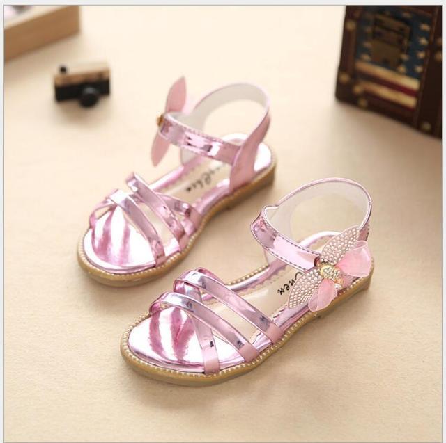 b3422c179671 2016 new Baby Girls Sandal Glitter Letters Girls Shoes Princess PU Fashion Kids  Sandals Summer Children Sandals Shoes