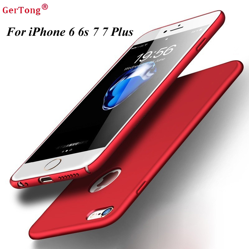 PC Full Phone Case For iPhone 6 Cases 5s 6s 6 plus 6s 5 SE For iPhone 7 Plus Red Cases Hard Back Plastic Matte Cover Fundas Capa