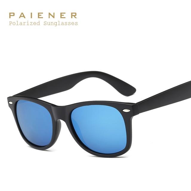 2727f7d2b0 PAIENER Classic 2140 Gafas De Sol hombres mujeres marca polarizadas Sol  vidrio HD polarizado lente Geek