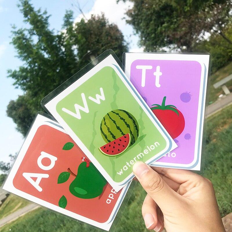 Cartão Alfabeto Aprendizagem Precoce Educacional Brinquedo Do