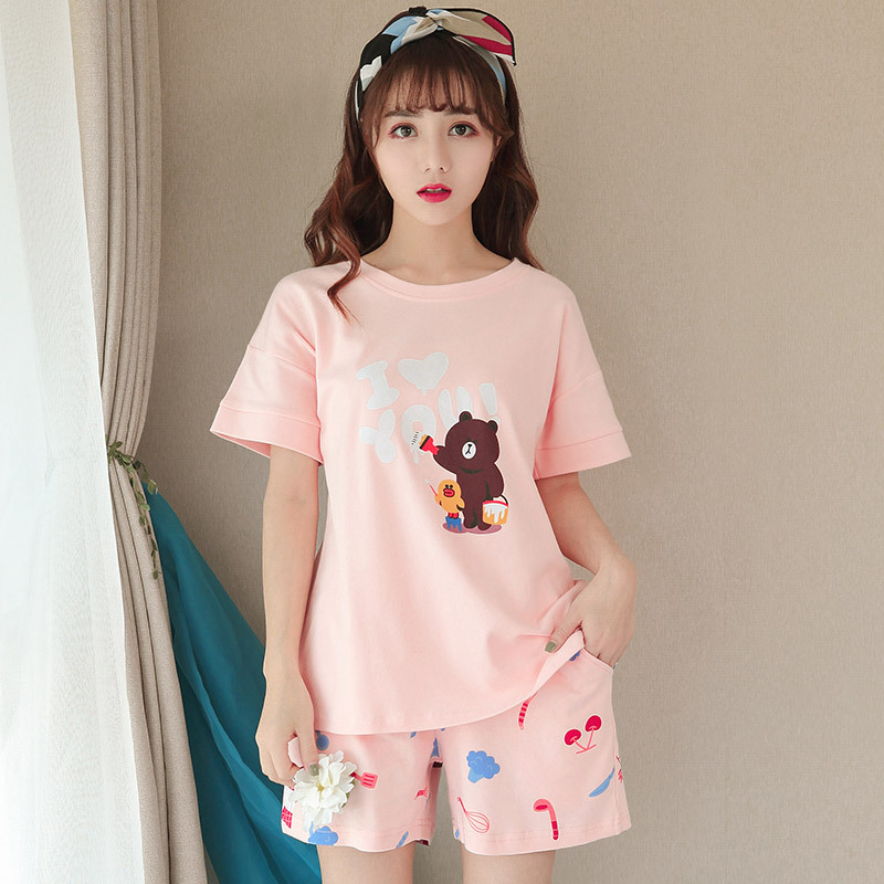 91fc9a12589 Pink Unicorn Pajamas Sets Women 2 Pieces Set Crop Top + Shorts women  pajamas cotton Plus Size pajamas suit For Women Sleepwear-in Pajama Sets  from Underwear ...