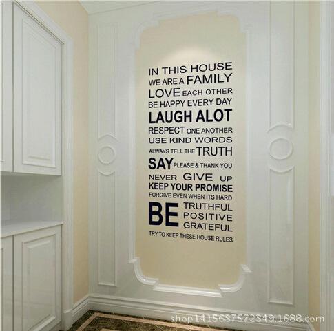 nueva ingls palabras extrable panel de pared de fondo pegatinas papeles sala dormitorio