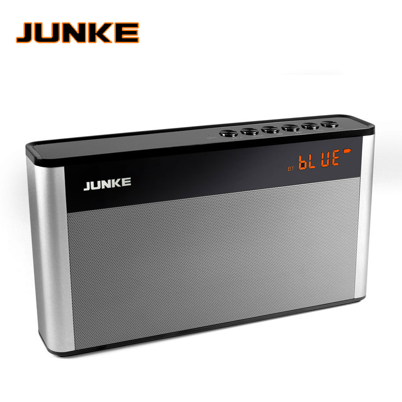 JUNKE HiFi Stereo Bluetooth Speaker Portable Wireless Super Bass Dual Speakers With Mic TF FM Radio USB Sound Box LED Dispaly-in Portable Speakers from Consumer Electronics    1