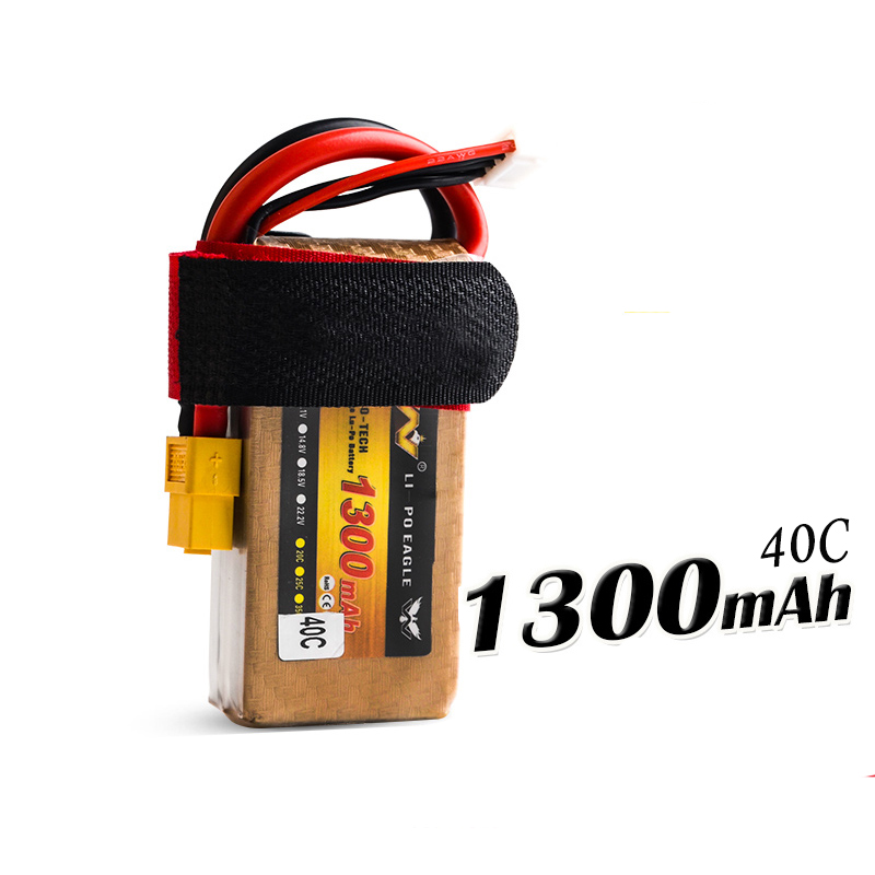 High Quality 11.1V 1300mAh 40C 3S RC LiPo Li-Poly Battery for Helicopters Quadcopter RC drone Car model 2pcs high quality 4s full 5400mah 14 8v 79 92wh replacement lipo battery for yuneec typhoon h drone rc quadcopter