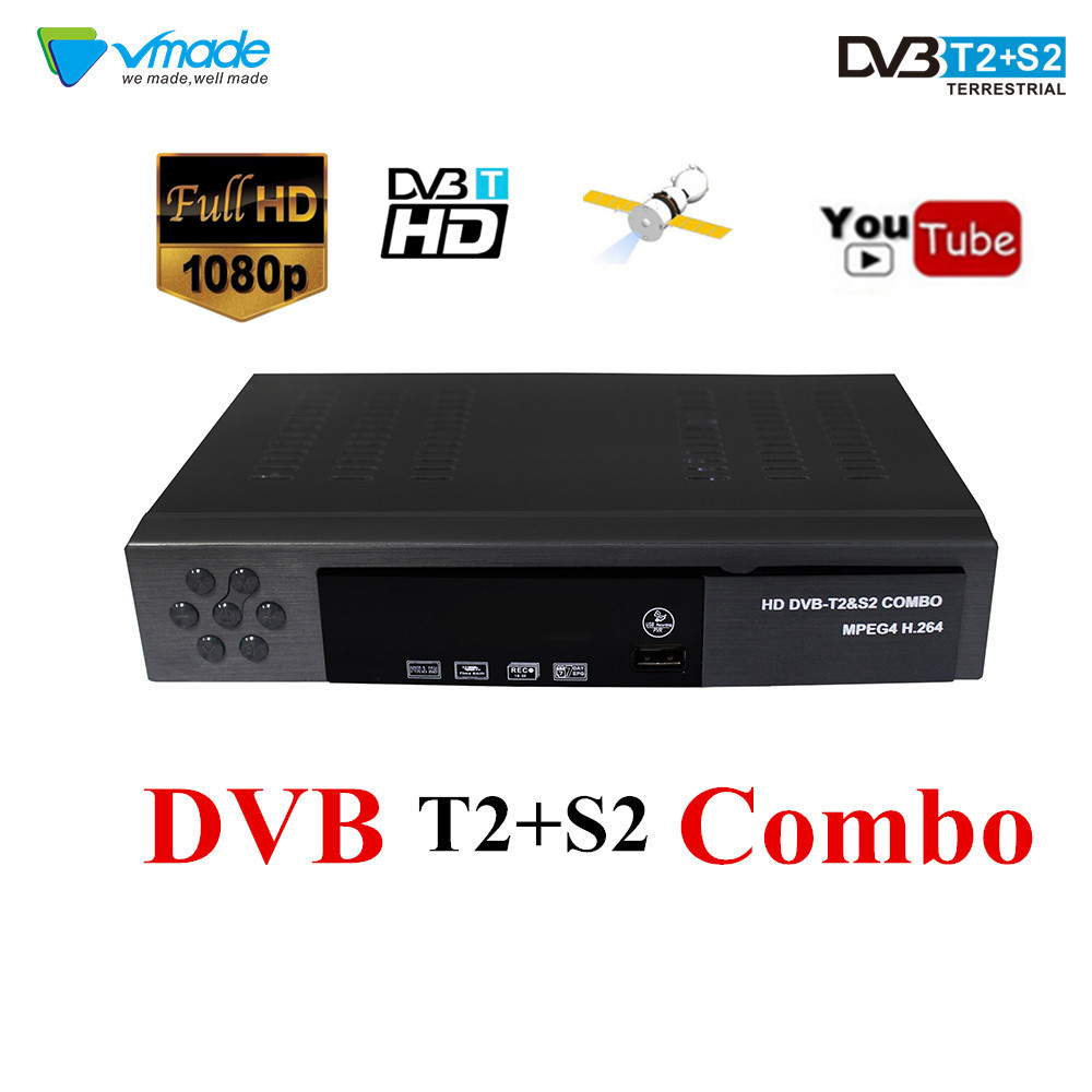 DVB-T2 DVB-S2 Combo HD Digital Set Top Box DVB T2 S2 Terrestrial Receiver Satellite Receiver TV Tuner H.264 Support AC3 Cccam