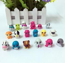 200pcs Mini Size 2.5cm Pencil Topper Animal series Action Figures Model PVC Toys Gifts For Kids cute nyan board cat in danboard mini pvc action figures collectible model toys gifts 10pcs set 7cm