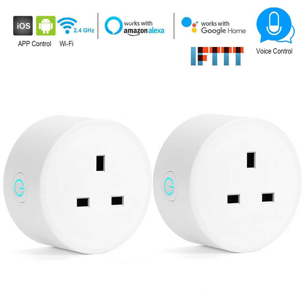 Wifi Smart Socket Mini UK Plug Power Energy Monitoring Timing Switch Control Outlet  Alexa Google IFTTT Voice Control Smart life