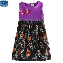 Novatx H6659 reatil partie fille robe nova nouveau sans manches floral robes pour fille enfants enfants vêtements bébé fille vêtements