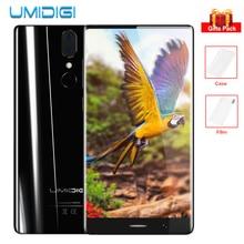 """UMIDIGI Kristal Çerçeve-az 4G Phablet 5.5 """" FHD Çift Arka Kam Android 7.0 MT6750T Octa Çekirdek 4 GB + 64 GB 13MP + 5MP Glonass Smartphone"""