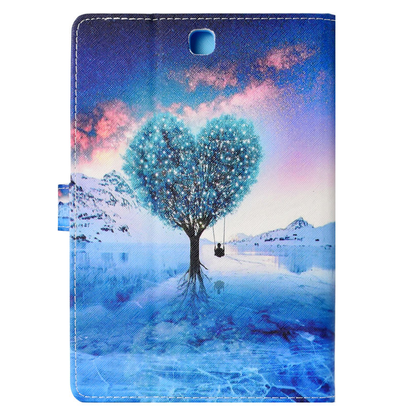 SM-T550 Fashion Case For Samsung Galaxy Tab A 9.7 SM-T555 T550 P555 P555C Cover Funda Tablet Silicone PU Leather Stand Shell