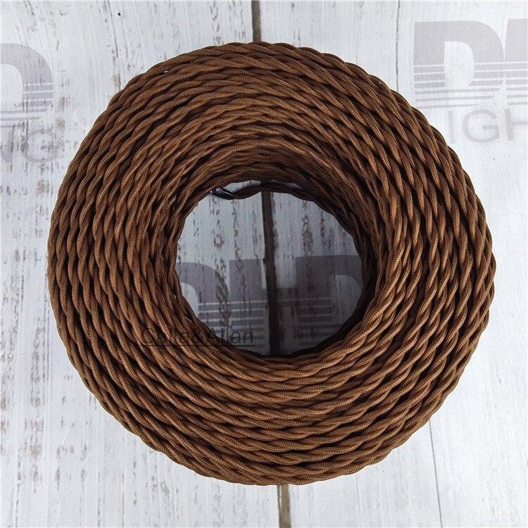 2x0,75 Vintage stoff Draht Verdreht Kabel Retro Geflochtenen ...