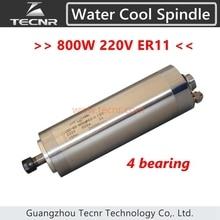 4 lager 800 Watt wasserkühlung cnc wassergekühlte spindelmotor 220 V ER11 mit 65*195 MM länge für cnc router