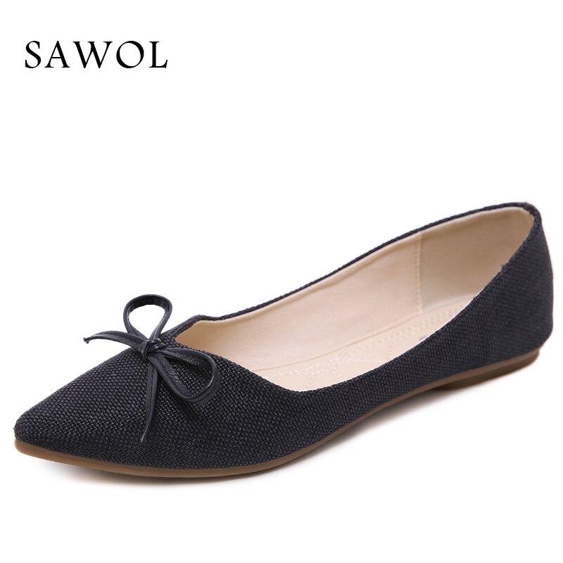 Printemps Black Sawol Automne beige Femmes Qualité Casual Appartements Ballet Sneakers Bout Chaussures brown Marque Haute Rond Doux BgXBq6