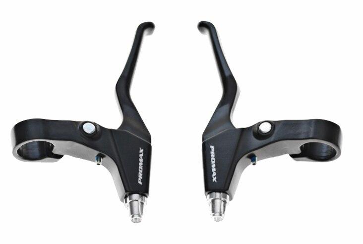 Set Promax Mountain Bike MTB Alloy V Brakes 110mm Long Arms Linear Pull Black