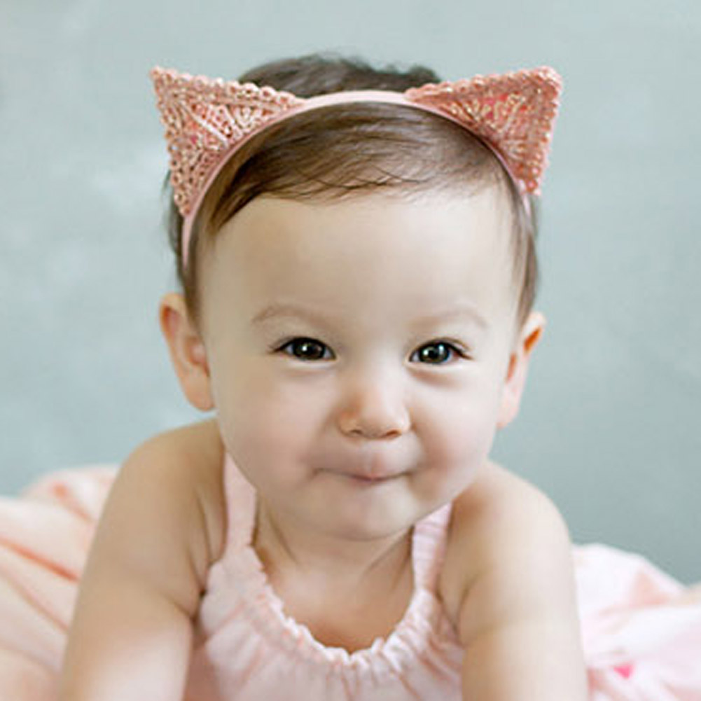 Baby Girls Hair Accessories Headbands Cat Ears Headband Delicate Lace Hair Band Newborn Baby Head Ornaments Hair Accessories