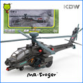 Mr.Froger KDW Boeing AH-64D Apache gunships alloy militarist military helicopter model Refined metal Decoration Classic Toys
