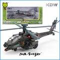 Mr. Froger KDW Boeing AH-64D Apache gunships militarista de aleación modelo de helicóptero militar de metal Refinado Decoración Juguetes Clásicos