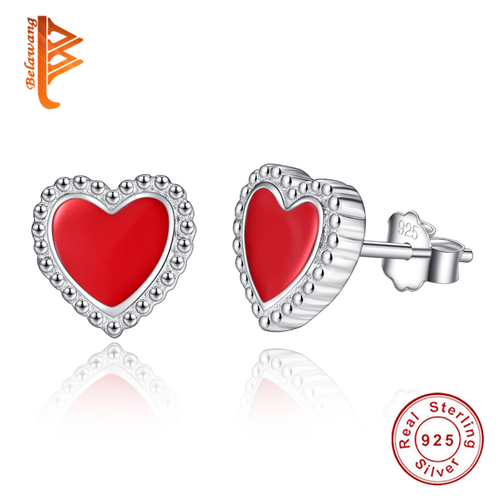 earrings post stud silver heart amazon sterling dp com jewelry open