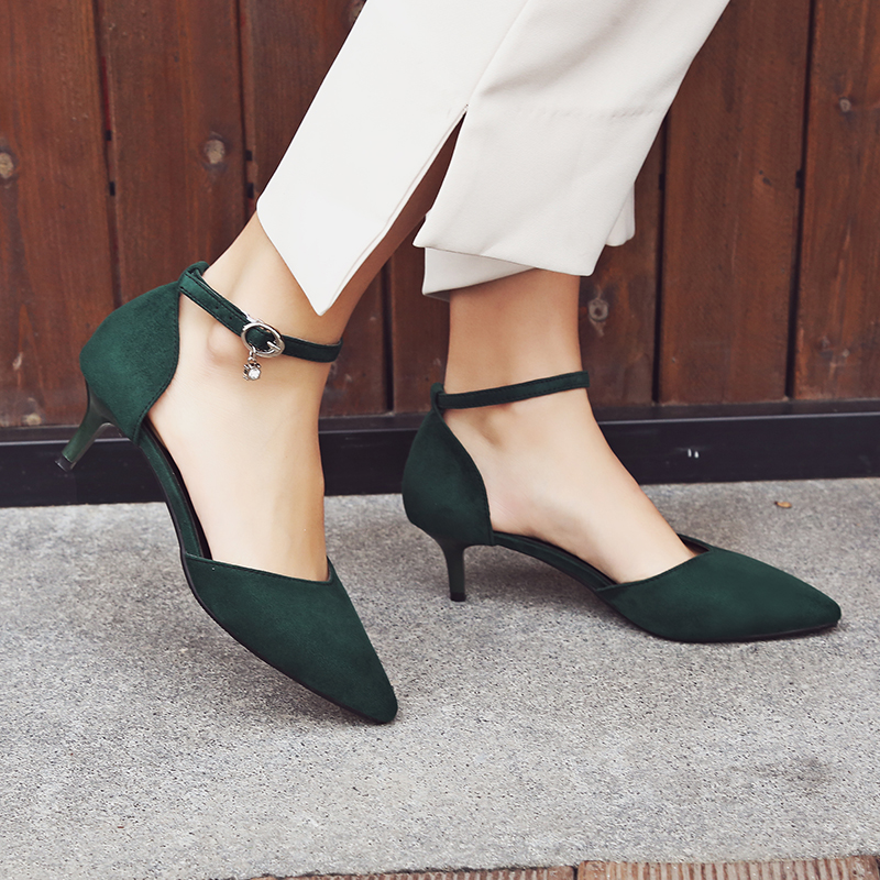 KEBEIORITY Women Pumps Shoes Ankle Strap