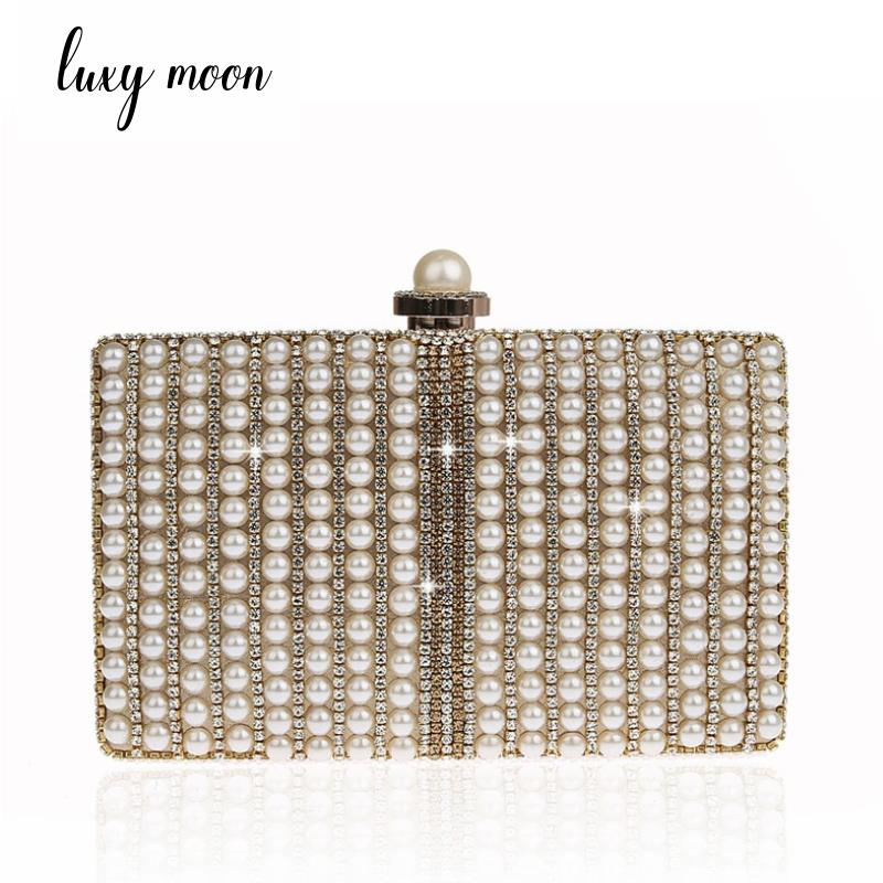Luxy Moon Pearls evening bags gold silver day clutches full dress embroidery evening clutch wedding bride purse handbagsLuxy Moon Pearls evening bags gold silver day clutches full dress embroidery evening clutch wedding bride purse handbags